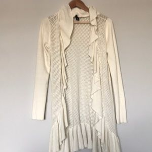 {white house black market} Cream Cardigan